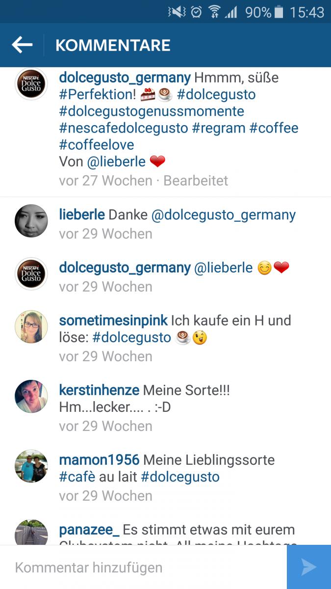 Kommentare süße instagram Instagram Sprüche